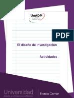 El diseño de investigación UNADM