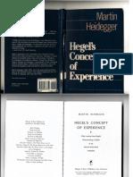 Martin Heidegger Hegel's Concept of experience