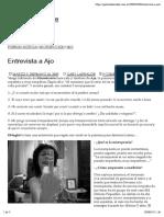 Entrevista a Ajo – Gabriela Larralde