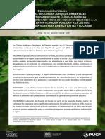Declaración pública - Clínicas jurídicas ambientales
