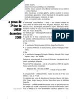 Prova Comentada - Unesp (2º Fase - 1)  - 2010