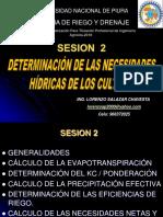 DETERMINACION DE LAS NECESIDADES HIDRICAS DE LOS CULTIVOS