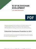 The Future of Blockchain Development in 2019