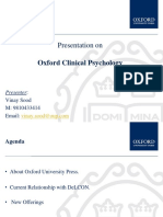 Customer Pitch - Oxford Clinical Psychology