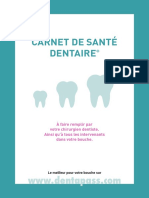 Carnet de Sante Dentaire