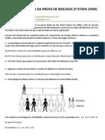 CORREÇÃO DA PROVA DE BIOLOGIA 2ª ETAPA UFMG - 1997