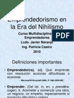 EMPRENDEDORISMO  EN LA ERA  DEL NIHILISMO