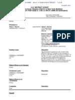 Buczek Docket Report 141 9 Nov 2010
