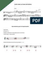 Improvisación Sobre Un Tema de Brahms