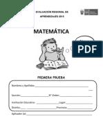 evaluacion de matematica 2do grado