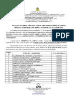 Relação de Aprovados e Classificados - Módulo Intermediário 2019.2 – Turma de 2ª e 4ª Vespertino