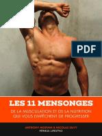 Les 11 mensonges qui vous empêchent de progresser en musculation