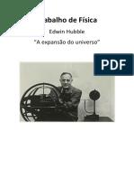 """Edwin Hubble - """"A expansão do universo"""""""