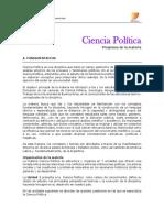 Programa Ciencia Politica