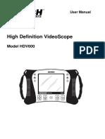 Extech HDV640 Manual