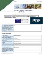 Private Schools Affidavit Confirmation (CA Dept of Education)