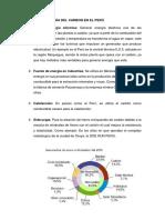 Usos de La Energía Del Carbon en El Perú