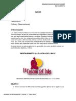 Informe Casona Del Inka