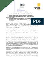 CP - Integración al SELA 12 nov 10