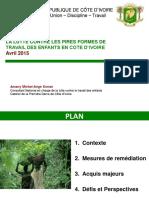 La Lutte Contre Les Pires Formes de Travail Des Enfants en Cote d Ivoire Avril 2015