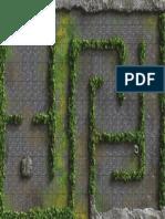 Mapa de combate - cenário de labirinto