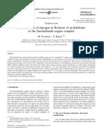 Industrial Use of Nitrogen in Flotation of Molybdenite