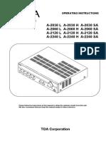 Toa Pa Amplifier a-2240
