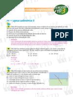 EXERCÍCIOS DE FÍSICA - Óptica Geométrica - Ondulatória - Eletrostática