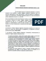 Pronunciamiento Nacional de las Naciones y Pueblos Indigenas desde la JIOC