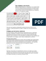 Cómo Hacer Una Fórmula en Excel