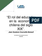 El Rol Del Educador en La Economía Chilena Del Siglo XIX