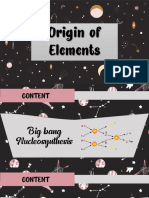Origin of Elements Physical Science