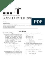 Arihant-iift Solvedpaper 2015