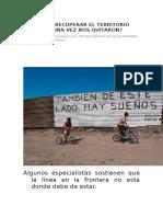 Mexico Recupera sus Territorios Perdidos