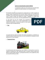 El Transporte y La Comunicación Social en Bolivia