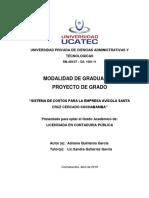 Proyecto Completo Avicola Santa Cruz. 2019