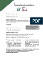 Agente Administrativo Camara de Itapoa 2008 Prova 02
