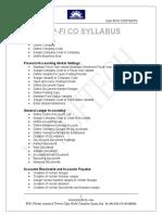 Sap Fico Syllabus(Seema) (1)