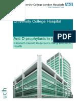 Anti-D Prophylaxis Patient Information