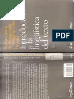 instroduccion a la linguistica del texto