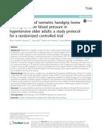 Twenty Weeks of Isometric Handgrip Home Training to Lower Blood Pressure in Hypertensive Older Adults (1)