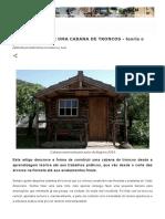 COMO CONSTRUIR UMA CABANA DE TRONCOS - teoria e prática