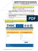 2020 MMC Document 4 - Instruction Guide for the ONLINE MMC Form No. 1 or Schools Online Registration