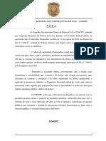 Conselho Nacional dos Chefes de Polícia Civil sobre o PL do abuso de autoridade