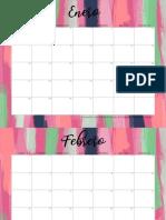 Calendario 2019 Pink Art