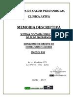 Memoria Descriptiva - CD Clínica AVIVA