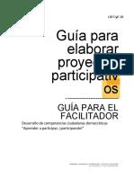 Guìa para elaborar proyectos participativos