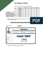 Ejercicio -6 Tablas