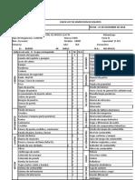 Formato de Check List Mosoc Llacta Camion Ford