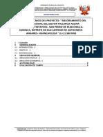 Informe Vial Antaparco